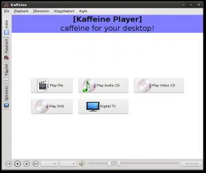 Il nuovo kaffeine in veste Kde4