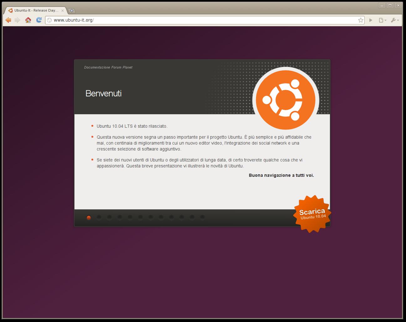 un intero sito ubuntu